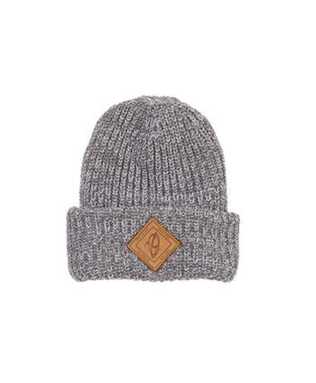 GORRO IBIS BEANIE CHUNKY KNIT WITH LEATHER PATCH