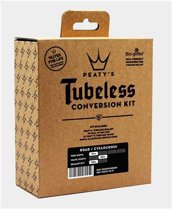 KIT CONVERSION TUBELESS PEATYS 21MM ROAD