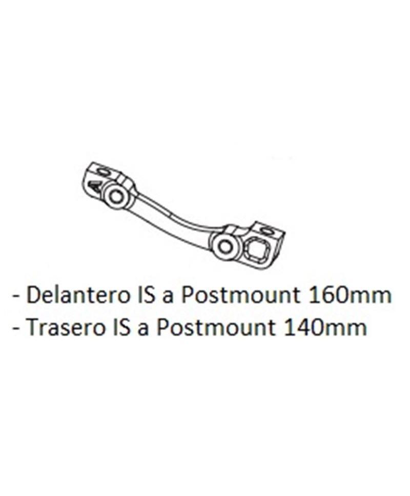 ADAPTADOR DISCO HOPE A POST MOUNT A STANDARD DEL 160MM TRAS