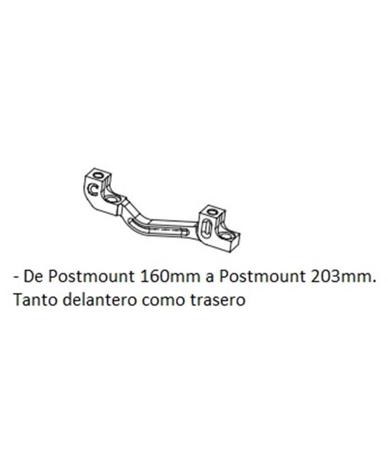 ADAPTADOR DISCO HOPE C POST MOUNT / POST MOUNT DEL 203MM