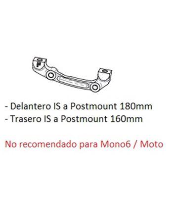 ADAPTADOR DISCO HOPE F DEL. 180 MM POST MOUNT A STD TRAS 160
