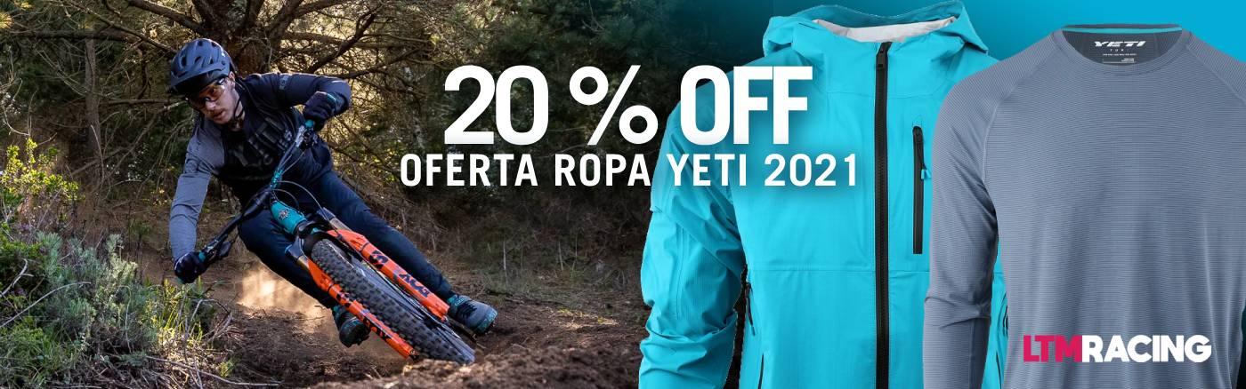 20% descuento ropa yeti 2021