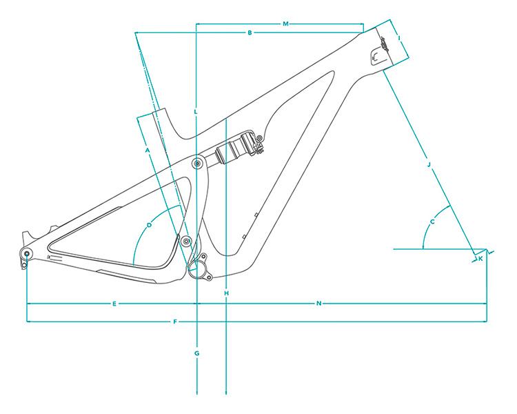 Cuadro de carbono Yeti SB115 29 TURQ 2021