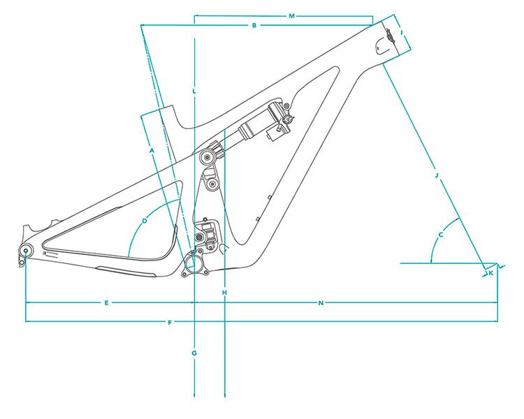 Cuadro de carbono Yeti SB130 29 TURQ 2021