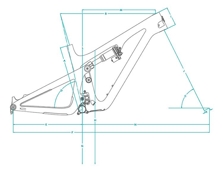 Cuadro de carbono Yeti SB140 27,5 TURQ 2021