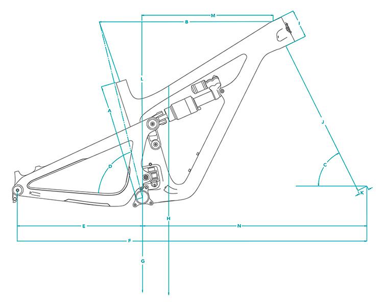 Cuadro de carbono Yeti SB150 29 TURQ 2021