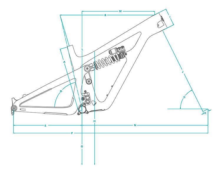 Cuadro de carbono Yeti SB165 27,5 TURQ 2021